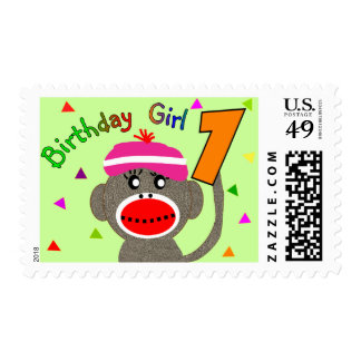 "Birthday Girl ""1"" year old Postage"