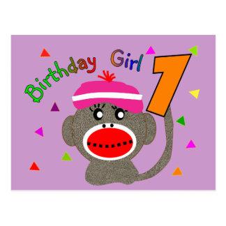 """Birthday Girl """"1"""" year old Postcard"""