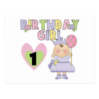 Birthday Girl 1st Birthday T-shirts and Gifts Postcard