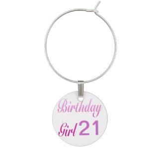 Birthday Girl 21 Wine Charm