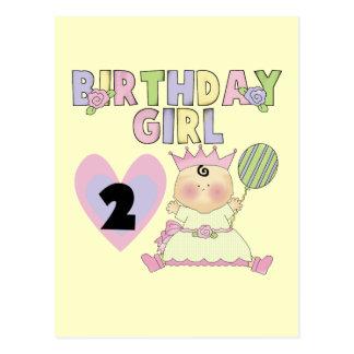 Birthday Girl 2nd Birthday T-shirts and Gifts Postcard