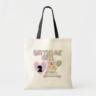 Birthday Girl 2nd Birthday T-shirts and Gifts Tote Bag