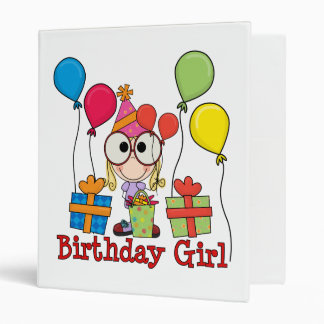 Birthday Girl 3 Ring Binder