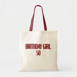 Birthday Girl 50 Canvas Bags