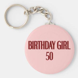 Birthday Girl 50 Keychain