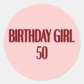 Birthday Girl 50 Sticker