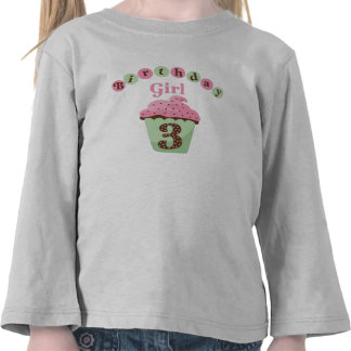 Birthday Girl Age 3 T-shirts
