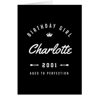 Birthday Girl Aged To Perfection Retro Card