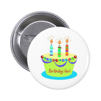 Birthday Girl Button