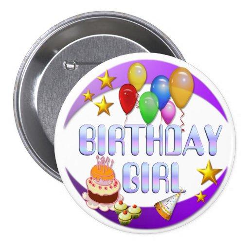 Birthday Girl ~ Button # 2