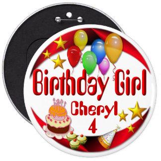 Birthday Girl ~Button # 3 Pinback Button