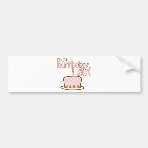 Birthday Girl Cake T-shirt Bumper Sticker