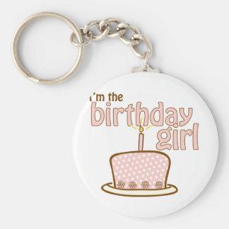 Birthday Girl Cake T-shirt Keychain