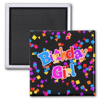 Birthday Girl Celebration Confetti Magnet