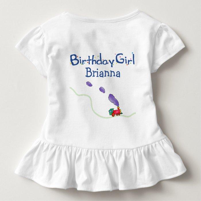 Birthday Girl (child's name) Train Toddler T-shirt