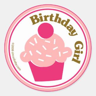 Birthday Girl Classic Round Sticker