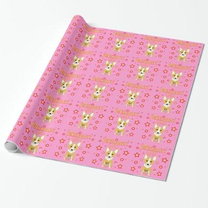 Birthday Girl! Corgi Dog Wrapping Paper