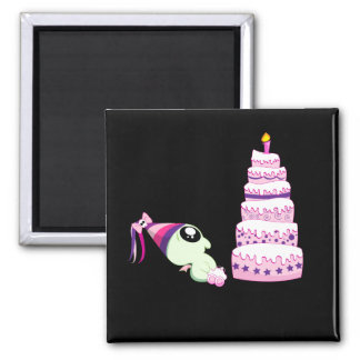 Birthday Girl Cthulhu 2 Inch Square Magnet