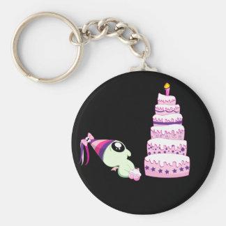 Birthday Girl Cthulhu Basic Round Button Keychain