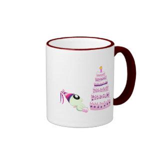 Birthday Girl Cthulhu Ringer Coffee Mug