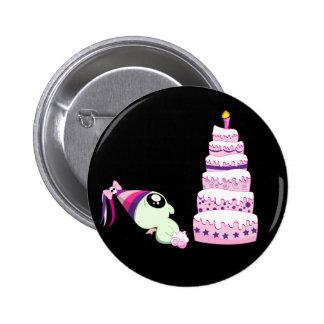 Birthday Girl Cthulhu Pinback Button