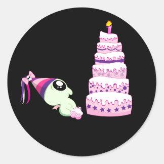 Birthday Girl Cthulhu Classic Round Sticker