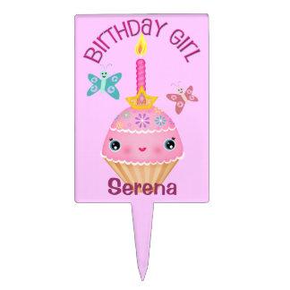 Birthday Girl Cupcake Pick Cake Topper