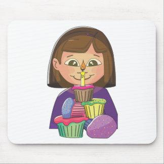 Birthday girl cupcakes mousepads