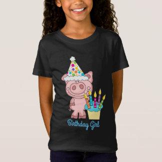 Birthday Girl Cute Piggy Shirt