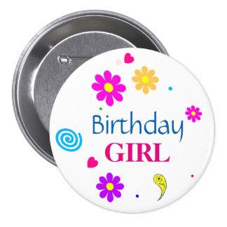 Birthday Girl Decorative Round Button