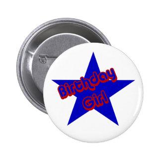 Birthday Girl Design Cute Button