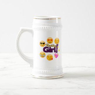 Birthday Girl (emojis) Beer Stein