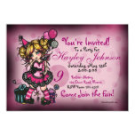 Birthday Girl Fairy Princess Custom Invitations