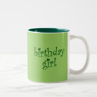 Birthday Girl for St. Patrick's Day Birthday Girls Two-Tone Coffee Mug