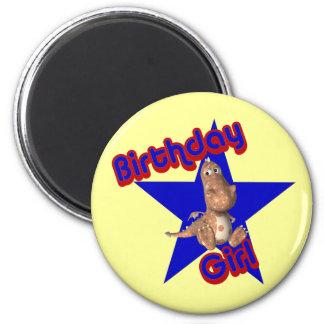 Birthday Girl Friendly Dinosaur Funny Magnet