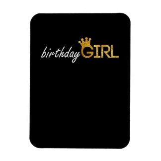 Birthday Girl Gold Glitter Princess Crown Magnet