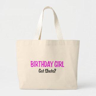 Birthday Girl Got Shots Canvas Bag