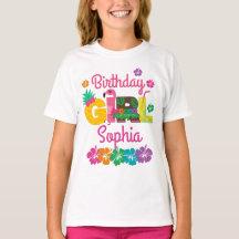 Luau Birthday Shirt Tropical 4th Birthday Shirt Hawaiian Birthday Shirt Flamingo 4th Birthday Shirt Fourth Birthday Shirt Girls Birthday