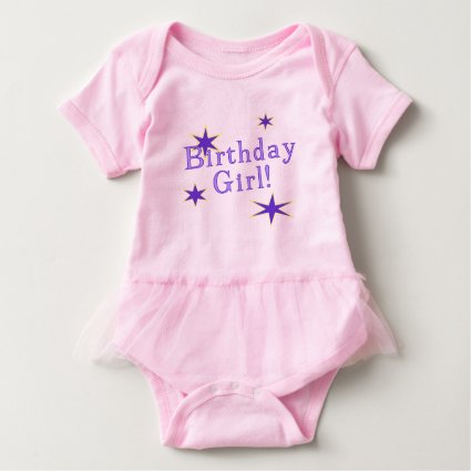 Birthday Girl Is A Star Baby Bodysuit