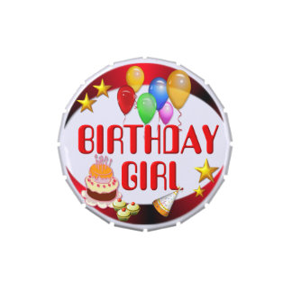 Birthday Girl Jelly Belly Candy Tin