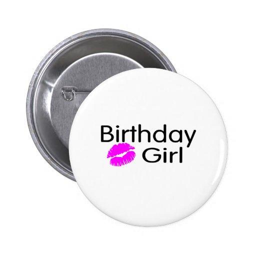 Birthday Girl (Kiss) Button