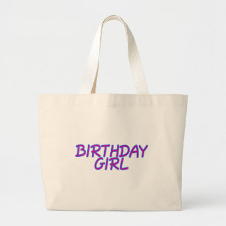 Birthday Girl Large Tote Bag
