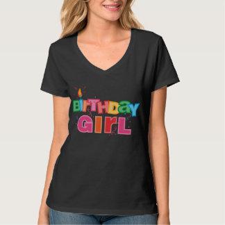 Birthday Girl Letters Tee Shirt
