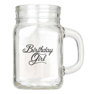 Birthday Girl Mason Jar