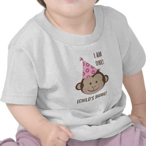 Birthday Girl Monkey Face Shirt