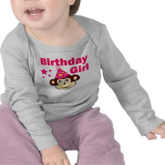 Birthday girl monkey t shirt