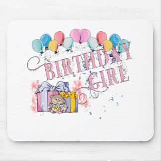 Birthday Girl Mouse Pads