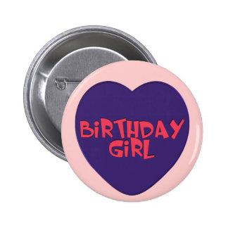 Birthday Girl Party Button
