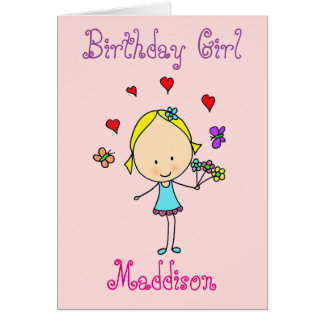 Birthday Girl Personalized Card