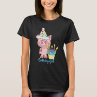 Birthday Girl Pig T-shirt